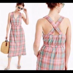 J.Crew Vintage Plaid Midi Dress